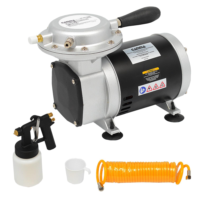 cb07e60ea Mini Compressor de Ar Diafragma 1 3 HP Bivolt Gamma